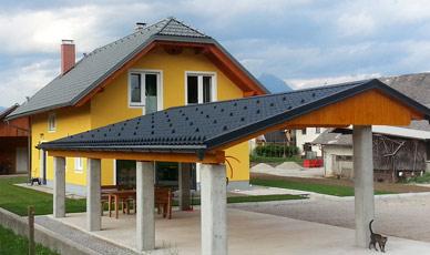 cena strehe za hišo