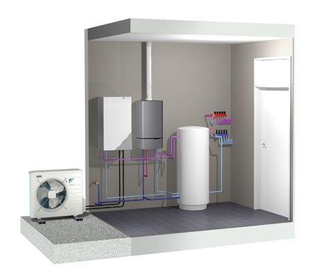 Toplotna črpalka zrak voda za radiatorsko ogrevanje