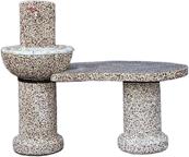 Zunanji kamini iz betona