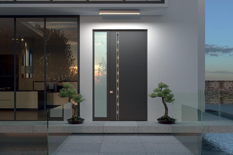 Protivlomna vhodna vrata za blok