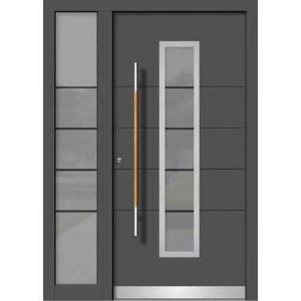 Vhodna vrata iz aluminija in lesa